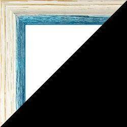Individueller Bilderrahmen Modell Amalfi in der Farbe Beige Vintage Blau