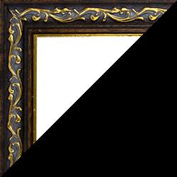 Individueller Bilderrahmen Modell Venedig Farbe Dunkelbraun Gold