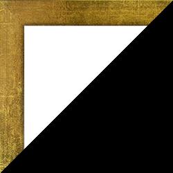 Individueller Bilderrahmen Modell Monaco Farbe Goldglanz Vintage