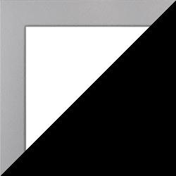 Individueller Bilderrahmen Modell Monaco Farbe Mattsilber