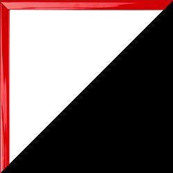 Individueller Bilderrahmen Modell Schnappy Farbe Rot