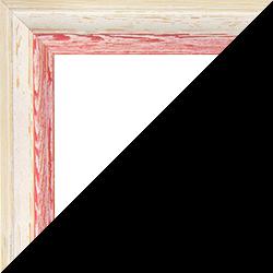 Individueller Bilderrahmen Modell Amalfi in der Farbe Beige Vintage Rot
