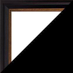 Individueller Bilderrahmen Modell Windsor Farbe Schwarz Gold