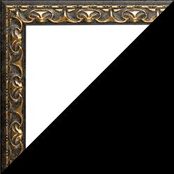 Individueller Bilderrahmen Modell Mallorca Farbe Schwarz Gold