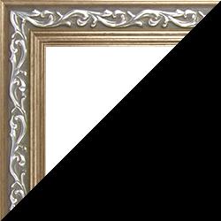 Individueller Bilderrahmen Modell Venedig Farbe Silber Bronze