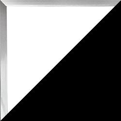 Individueller Bilderrahmen Modell Schnappy Farbe Mattsilber