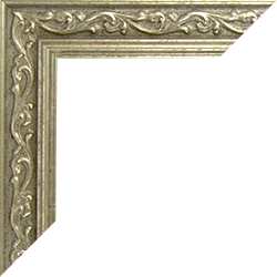 Individueller Bilderrahmen Modell Venedigt Farbe Silber Vintage