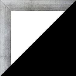 Individueller Bilderrahmen Modell Monaco Farbe Silber patiniert