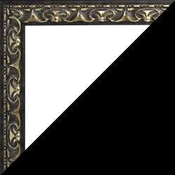 Individueller Bilderrahmen Modell Mallorca Farbe Schwarz Silber
