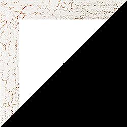 Individueller Bilderrahmen Modell Monaco Farbe Weiß Antik