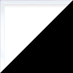 Individueller Bilderrahmen mit Klemmleiste Schnappy in Weiß