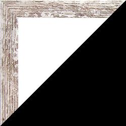 Individueller Bilderrahmen Modell Monaco Farbe Weiß Vintage