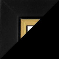 Individueller Bilderrahmen Modell Palermo Farbe Schwarz Gold