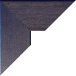 Massivholz Foto-Rahmen Stralsund Sonderformat Blau Echtholz