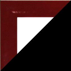 Individueller MDF Bilderrahmen Sonderformat Modell Palma Bordeaux Rot hochglanz
