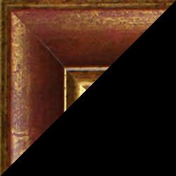 Individueller Bilderrahmen Modell Vienna Farbe Rot Gold