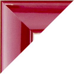 Individueller Bilderrahmen Modell Orlando Farbe Rot