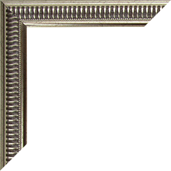 Individueller Bilderrahmen Modell Birmingham Farbe Silber Antik