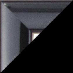 Individueller Bilderrahmen Modell Orlando Farbe Schwarz Hochglanz