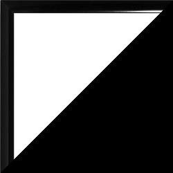 Aluminium Foto-Rahmen Hamilton Hochglanz Sonderformat Schwarz Hochglanz
