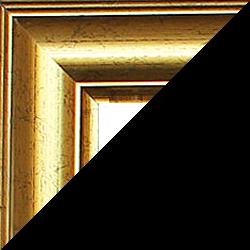 Individueller Bilderrahmen Modell Sidney Farbe Gold Antik
