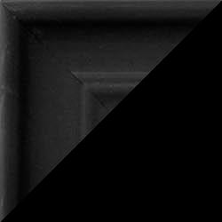 Individueller Bilderrahmen Modell Bergamo Farbe Schwarz gemasert