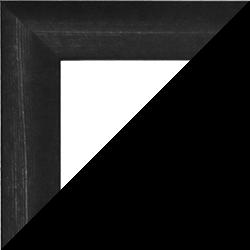 Individueller MDF Bilderrahmen Sonderformat Modell Palma Schwarz gemasert