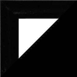Individueller MDF Bilderrahmen Sonderformat Modell Palma Schwarz hochglanz