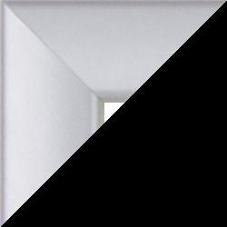 Individueller Bilderrahmen Modell Orlando Farbe Silber Matt