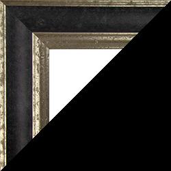 Individueller Bilderrahmen Modell Vienna Farbe Schwarz Silber