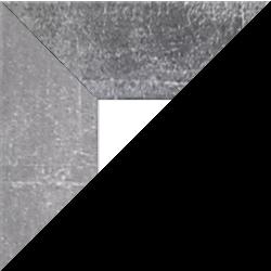 Individueller Billderrahmen Modell Oslo Farbe Silberglanz Vintage nach Maß im Onlineshop bestellen