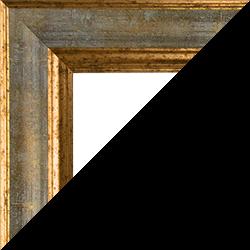 Individueller Bilderrahmen Modell Vienna Farbe Türkis Gold