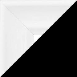 Individueller Bilderrahmen Modell Bergamo Farbe Weiß gemasert