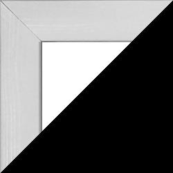 Individueller MDF Bilderrahmen Sonderformat Modell Palma Weiß gemasert
