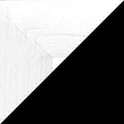 Individueller Bilderrahmen Modell Monaco Farbe Weiß Gemasert