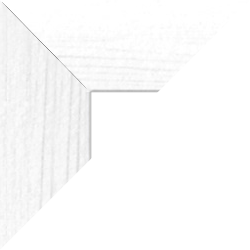 Individueller Billderrahmen Modell Oslo Farbe Weiß gemasert nach Maß im Onlineshop bestellen