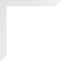 Individueller Bilderrahmen Modell Talon Farbe Weiß Gemasert