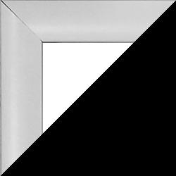 Individueller MDF Bilderrahmen Sonderformat Modell Palma Weiß hochglanz