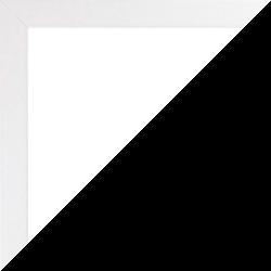 Individueller Bilderrahmen Modell Talon Farbe Weiß Hochglanz