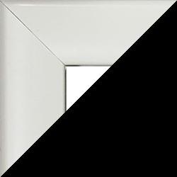 Individueller MDF Bilderrahmen Sonderformat Modell Pisa Weiß hochglanz