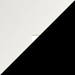 Individueller Bilderrahmen Modell Monaco Farbe Weiß Hochglanz