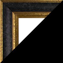 Individueller Bilderrahmen Modell Vienna Farbe Schwarz Gold