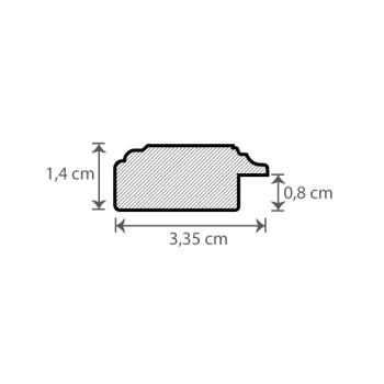Individueller Bilderrahmen / Puzzlerahmen / Posterrahmen, Modell Cambridge Querschnitt