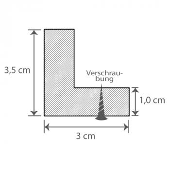 Individueller Bilderrahmen / Puzzlerahmen / Posterrahmen, Modell Madeira Querschnitt