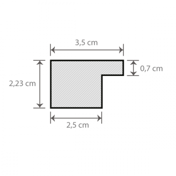 Individueller Bilderrahmen / Puzzlerahmen / Posterrahmen, Modell Oslo - Querschnitt