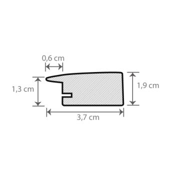 Individueller Bilderrahmen Sondermaße Modell Pisa Querschnitt
