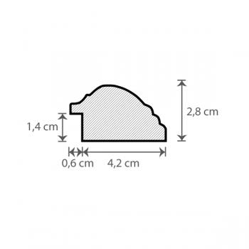 Individueller Bilderrahmen / Puzzlerahmen / Posterrahmen, Modell Sidney Querschnitt