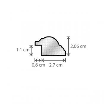 Individueller Bilderrahmen / Puzzlerahmen / Posterrahmen, Modell Birmingham Querschnitt