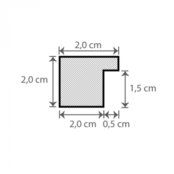 Individueller Bilderrahmen / Puzzlerahmen / Posterrahmen, Querschnitt Modell  Quadro