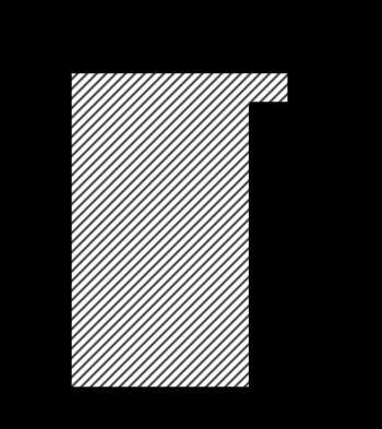 Individueller Bilderrahmen / Puzzlerahmen / Posterrahmen, Modell Talon Querschnitt